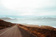 Road leading towards mountains, Eskifjörður, Sudur-Mulasysla, Iceland - CUF51252