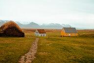 Farm houses, Eskifjörður, Sudur-Mulasysla, Iceland - CUF51258