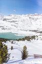 Austria, Tyrol, Galtuer, skier skiing downhill through deep snow - MMAF00954