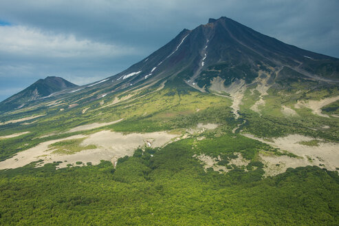 Aerial of the uninhabitated south of Kamchatka, Russia - RUNF02018