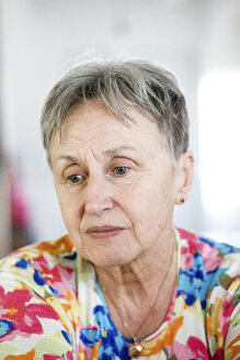 Portrait of a serious senior woman - KMKF00964