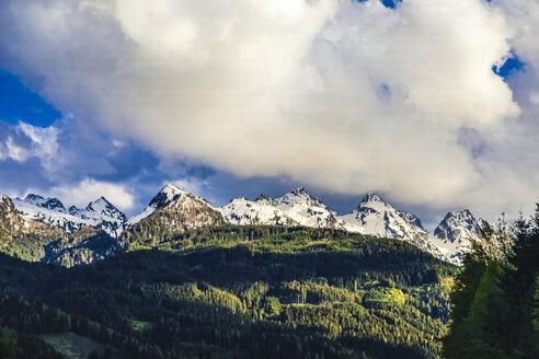 Italy, Trentino-Alto Adige, Predazzo, snowcapped Dolomites mountains - FLMF00203