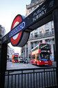 UK, London, underground station sign - MRF01966