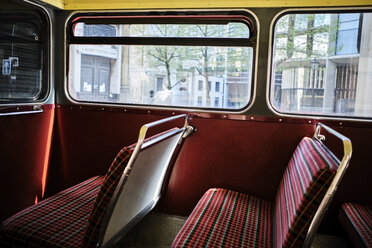 UK, London, interior of a bus - MRF01975