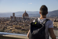 Man enjoying the view of Florence, Florence, Italy - MAUF02451