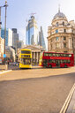 UK, London, Lombard Street, bank station, bank of england, financial district in a sunny day - TAM01436