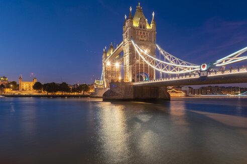 The Tower Bridge at night illuminated with reflection - TAMF01439