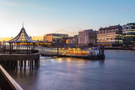 UK, London, London Bridge City Pier at sunset - TAMF01457