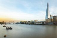 UK, London, Long exposure of the Thames with the Tower Bridge, HMS Belfast and the Shard - TAMF01469