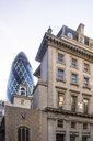 UK, London, City of London, Liverpool Street, financial district with the Gherkin - TAMF01481