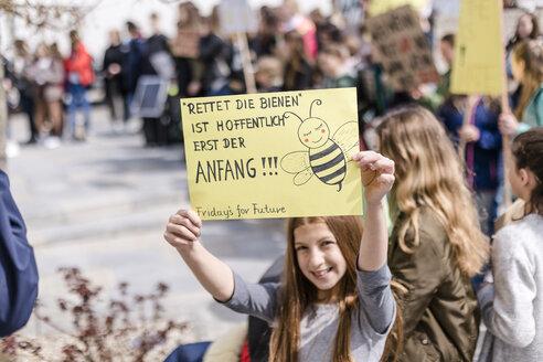 Protest, Demo für den Umweltschutz, Klimaschutz, Vilsbiburg, Bayern, Deutschland - STBF00354