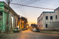 Street view at twilight, Havana, Cuba - HSIF00629