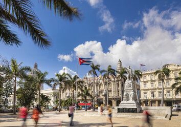 Jose Marti Statue at Central Park, Havana, Cuba - HSIF00647