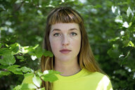 Portrait of young woman in the forest - FLLF00214