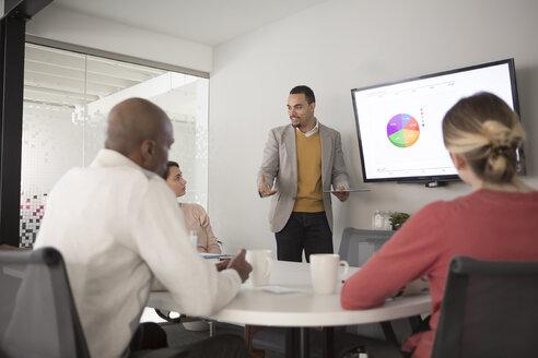 Business people talking in meeting - BLEF04779