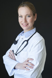 Portrait of confident female doctor - PNEF01505