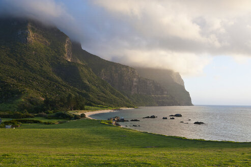 Mount Lidgbird and Mount Gower at sunset on Lord Howe Island, New South Wales, Australia - RUNF02184