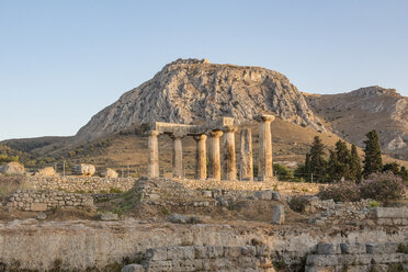 Archaic Temple of Apollo, Dorian columns, Corinth, Greece - MAMF00721