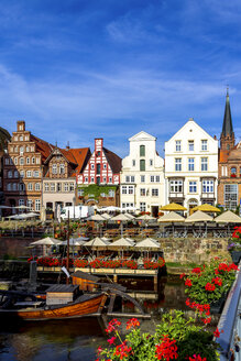 Gable houses and half-timbered houses at Stint market, Lueneburg, Germany - PUF01567