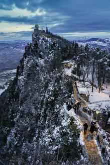 Monte Titano in winter, San Marino - LOM00875