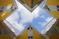 Worm's eye view of cubical house, Rotterdam, Netherlands - LH00639