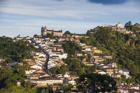 View of the colonial town of Ouro Preto, Minas Gerais, Brazil - RUNF02336