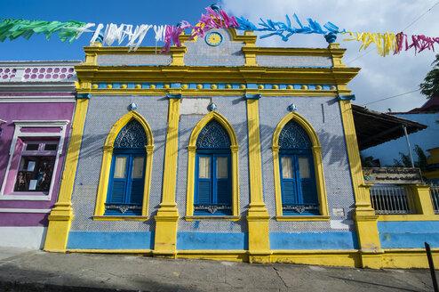 Colourful colonial architecture in Olinda, Pernambuco, Brazil - RUNF02360