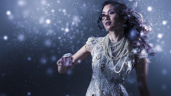 Glamorous Chinese woman dancing - BLEF06160