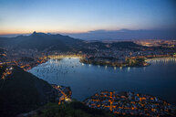 View from the Sugarloaf Mountain at sunset, Rio de Janeiro, Brazil - RUNF02391