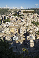 View from Ragusa Superiore to Ragusa Ibla, Ragusa, Sicily, Italy - MAMF00747