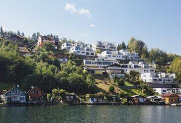Houses at lakeshore, Seeboden, Millstatt Lake, Carinthia, Austria - GWF06097