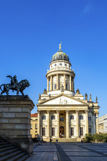 View to French Cathedral at Gendarmenmarkt, Berlin, Germany - PUF01614