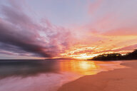 Big Beach at sunset, Makena Beach State Park, Maui, Hawaii, USA - FOF10842