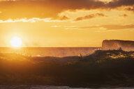 Big Beach at sunset, Makena Beach State Park, Maui, Hawaii, USA - FOF10845