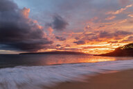 Big Beach at sunset, Makena Beach State Park, Maui, Hawaii, USA - FOF10851