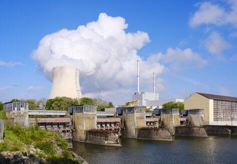 Isar Nuclear Power Plant, Niederaichbach hydro plant, near Landshut, Bavaria, Germany - SIEF08655