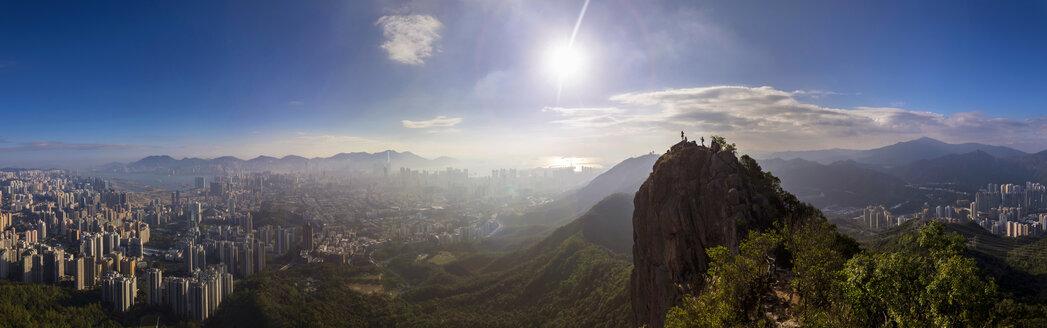 Lion Rock and cityscape, Hong Kong, China - HSIF00651