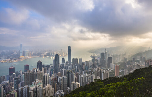 Hong Kong Central skyline and Victoria Harbour, Hong Kong, China - HSIF00663