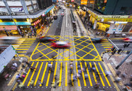 Pedestrians crossing road in Hong Kong Central, Hong Kong, China - HSIF00669