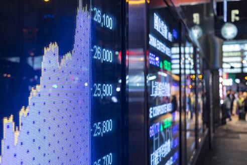 Stock Market Display, Hong Kong, China - HSIF00684