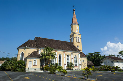 Luteranian church in the German speaking town of Pomerode, Brazil - RUNF02420