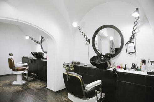 Interior of a barber shop - AHSF00501