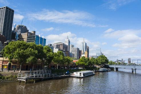 The heart of Melbourne on the Yarra river, Victoria, Australia - RUNF02530