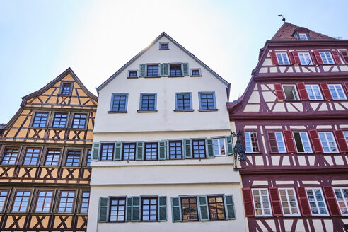 Timber-framed houses in the old town, Tuebingen, Baden-Wuerttemberg, Germany - MRF02002