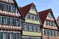 Timber-framed houses in the old town, Tuebingen, Baden-Wuerttemberg, Germany - MRF02005