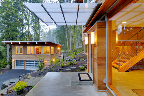 Balcony and awning of modern house - MINF11675