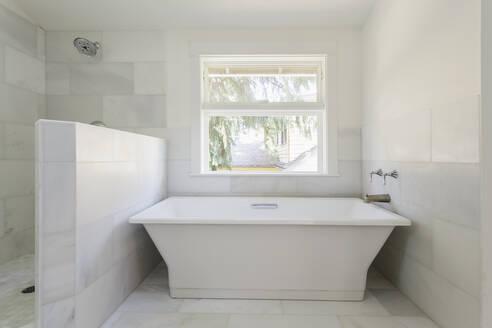 Bathtub and shower in modern bathroom - MINF12089
