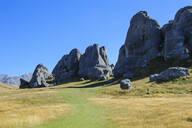 Limestone outcrops on Castle Hill, South Island, New Zealand - RUNF02624