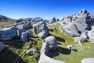 Limestone outcrops on Castle Hill, South Island, New Zealand - RUNF02627