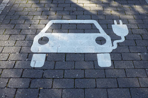 Parkplatzmarkierung für Elektrofahrzeuge - BSCF00603